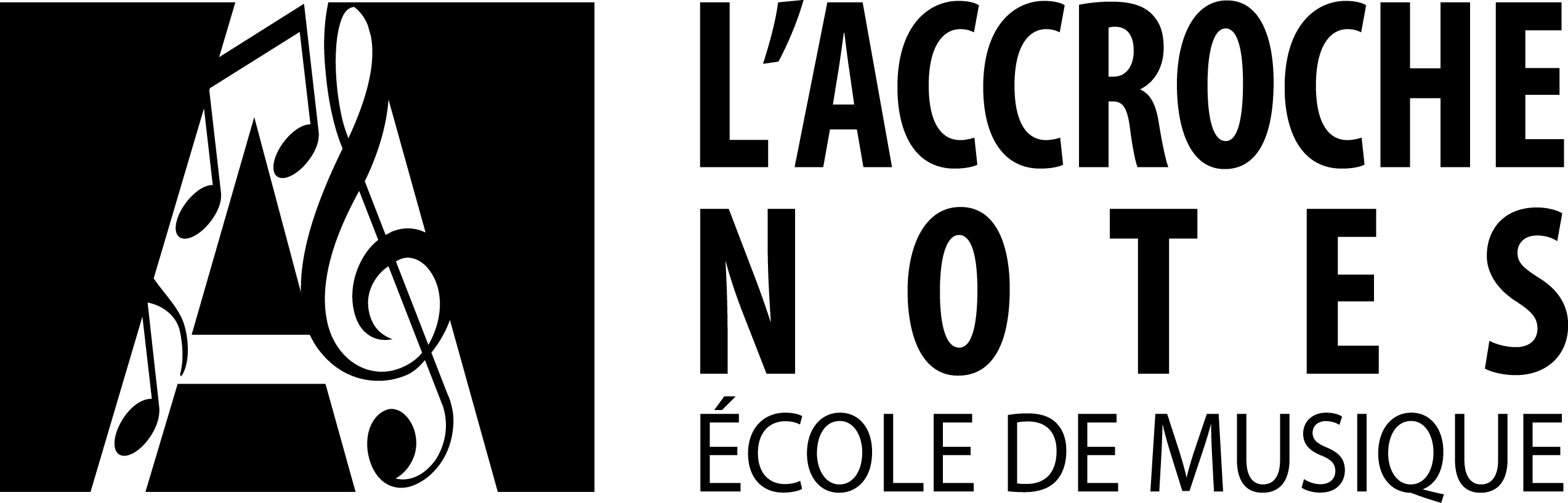 accroche notes logo horizontal noir